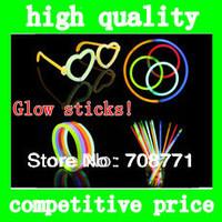 Multi Color Glow fluorescence Stick Luminous bar Light Bracelets For Christmas decoration Celebration Festivity Ceremony Party