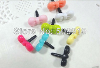 free shipping 3.5mm Cute Mini color Ear Cap Dust Plugs For iPhone/iPad/Samsung decoration