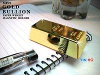mini gold bullion doorstop gold bullion paper weight magnetic holder multi-functional gold bul