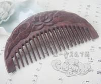 Handmade embossed classical wooden comb