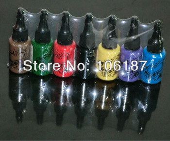 Tattoo Supply Tattoo Ink Pigment Complete set 7Bottles 15ML 0.5OZ For Tattoo Needles Kit Supply To the World