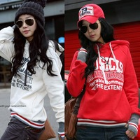 2012 Women's Autumn Sweatshirt Personalized Fleece Hoodie Sweatshirt Casual Outerwear Free Shipping