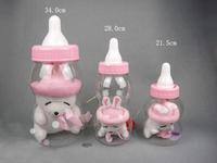 Creative children's toys Christmas gift plastic transparent rascal rabbit bottle piggy bank saving tank free shipping