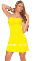 Sexy Nightwear Mature lingerie set Mini Dress 2013 New Arrival M56+ Cheaper price + Free Shipping Cost + Fast Delivery+yellow