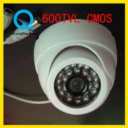 Surveillance 600TVL CMOS 3.6mm lens Color Dome Video CCTV Security Camera W30-6(China (Mainland))