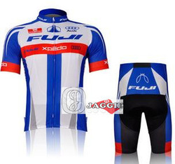 Free shipping! FUJI 2012 racing team cycling jersey and shorts / short sleeve jerseys+pants bike bicycle riding wear set(China (Mainland))
