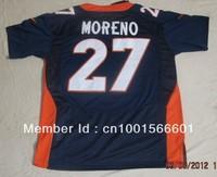 New Season New style American football ELITE 27 Moreno Knowshon #27 navy blue dark blue  color