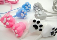 Cartoon cat ear mobile phone headphones for mobile phone in ear earphones fashion
