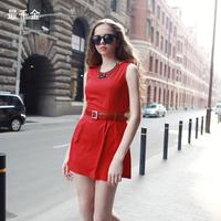 Tuio fashion personality racerback red one-piece dress bride evening dress bridesmaid dress knee-length dress for  women