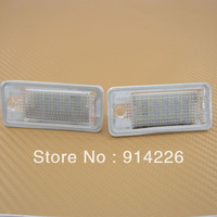 Car Auto parts FreeShipping 2PCS LED License Plate Lamp Fit AUDI A3/S3 A4/S4 A6/C6 Q7 RS4 White