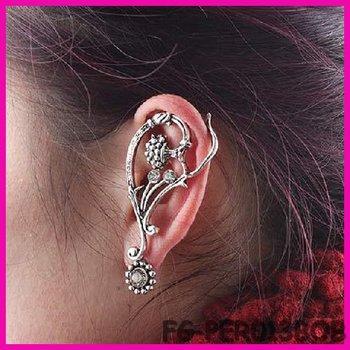 12 PCS/LOT $15 MIN ORDER 2013 China Yiwu Factory Punk Gothic jewelry hoop spike small flower earrings cuff FG-PER013BOB