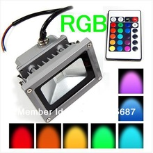 85-265V RGB Projection LED Flood Light 10W 20W 30W 50W Floodlight Waterproof IP68 Outdoor Color Change Play Grounds Yards(China (Mainland))