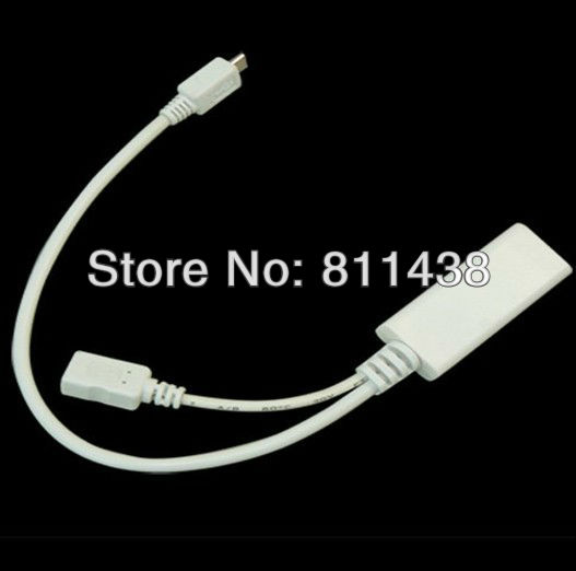 [caseii] 100pcs/lot MHL Cable for Samsung i9100 Galaxy S2, HTC EVO 3D, Sensation, Flyer, Micro USB HDMI Cable Gold Plated(China (Mainland))