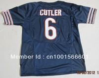 New Season New style American football ELITE 6 Cutler Jay #6  dark blue navy blue color