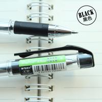 M&G school pen  Plastic black Gel pens BLACKCrystal0.7MM office Signature pen ORDER MORE THAN 50 pieces FREE SHIPPING