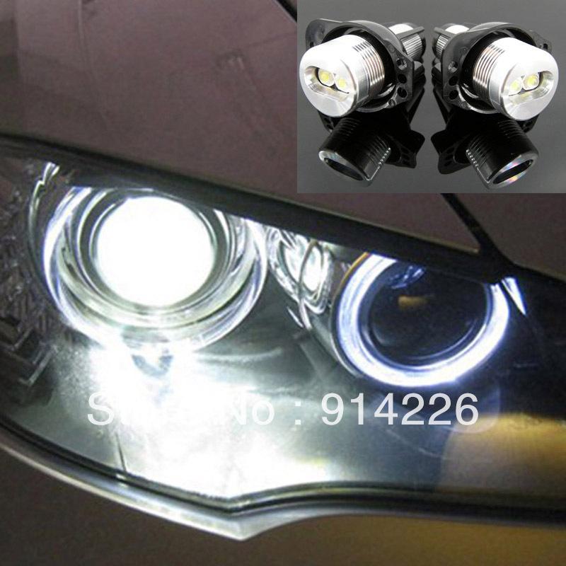 Car Auto parts 2PCS LED Marker Angel Eyes Light 3 Series E90 E91 White(China (Mainland))