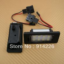 Car Auto parts FreeShipping 2PCS LED Light License Plate Lamp Fit AUDI Q5 A5 S5 TT A4 White(China (Mainland))