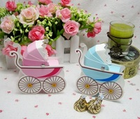 Wholesale -50pcs/lot  Wedding Favor Box Bomboniere Baby Shower Favors Baby Day Out Candy Boxes
