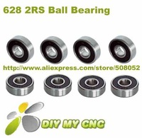 Free Shipping for 628 2RS Rubber Seal Deep groove ball bearing 8x24x8 Shielded Miniature Ball Bearings