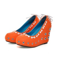 Orange brown special designer sexy high heel platform women shoes fashion party shoes (different colors,size US 5-7.5) squ029952