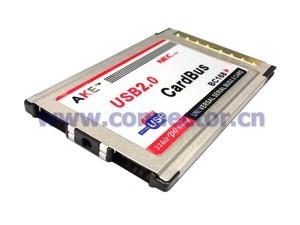 USB 2 0 2 Ports PCMCIA PC CardBus Latop Notebook 54mm NEC Chip Insert Type