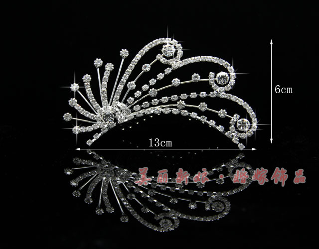 HOT SELLING!bride accessories,Wedding princess imperial crown hair hoop/ hairclip 02# FREE SHIPPING(China (Mainland))