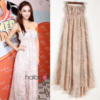 Bohemia chiffon skirt 2012 beach dress summer one-piece dress nude chiffon tube top full dress 5372