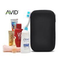 Black square portable wash bag cosmetic bag for men and women general bag