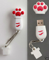 "White/Pink ""Paw"" USB Flash Memory Drive(Stick/Thumb/Pen) 4-32GB U3"