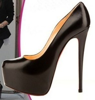 2012 princess 14cm high-heeled shoes fashion sexy thin heels leather high-heeled women's shoes