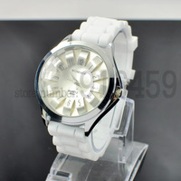 Wholesale New sunny sunfllower Dial womens mens jelly rubber watch wristwatches free shipping