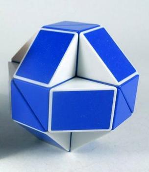 Free shipping Blue  Magic snake Snake magic cube IQ puzzle cube  interesting snake cube
