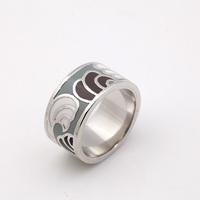 Free shipping plant shape copper plated ring enamel finger ring Min 1pcs