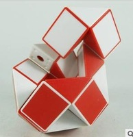 Free shipping Red Magic snake 3D Snake magic Cube Puzzle Magic Toy cube Twist Puzzle Cube