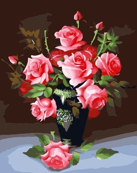 Promotional Digital oil painting diy lovers marriage decorative painting flowers 40 50