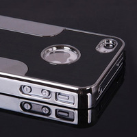 Luxury Black Brushed Metal Hard Case for iPhone5 Black