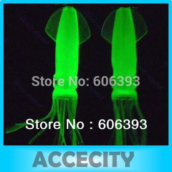 C18 10Pcs 11cm 7.4g Noctilucent Soft Squid Sleeve Fish Fishing Lure Tackle Bait