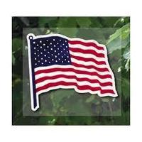 Window Static Cling Sticker---American Flag