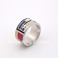 Multishape fashion New design copper plated enamel rings finger jewelry Free shipping Min 1pcs