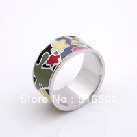 Star pattern new design copper plated enamel ring finger jewelry FREE SHIPPING