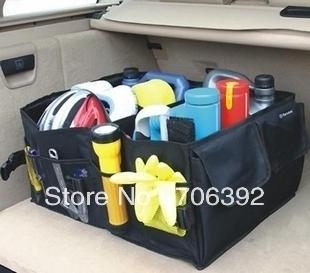 Wholesale 20pcs/lot Black Car Boot Tidy Bag Organizer Organize Bag Auto Storage Box Multi-use Tools organize
