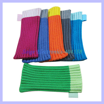 Warm Chrismas gift Colorful Sock case soft bag pouch for iphone 5 4g 4s mobile phone sock ,30sets