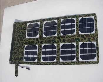 Free Shipping by DHL Super High Efficiency 8pcs of Solar Panel 24W Folding Solar Charger for Laptop -