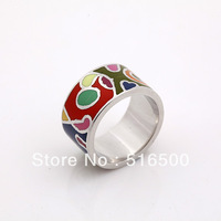 Free shipping best selling colorful copper plated enamel rings fashion ring Min1pcs