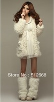 2012 autumn winters is cute teddy bear ears hooded wool coat free shipping