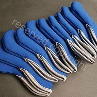 Golf Club Iron Head Covers Set 10 pcs Headcovers Blue 2012 G012