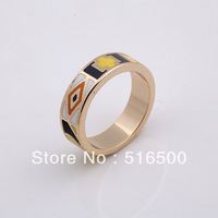 FREE SHIPPING fashion copper plated enamel ring finger ring jewelry Min1pcs