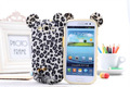 MOQ 1PC HK freeshipping!Cute 3D Tiger Leopard with Soft Feather Tail Case Cover Skin For Samsung Galaxy S3 III i9300