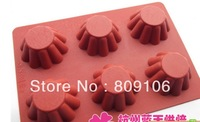 Wholesale ,Silicone 6b hole TartsShapes Cake Mould chocolate Baking Cupcake Pan 3pcs mixing order  ,free shipping