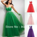 New Style Free Shipping In Stock A-line Sweetheart Neckline Beaded Green Evening Dress